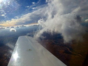 """Outback Sky"" Return flight from Broken Hill at 7500 feet."
